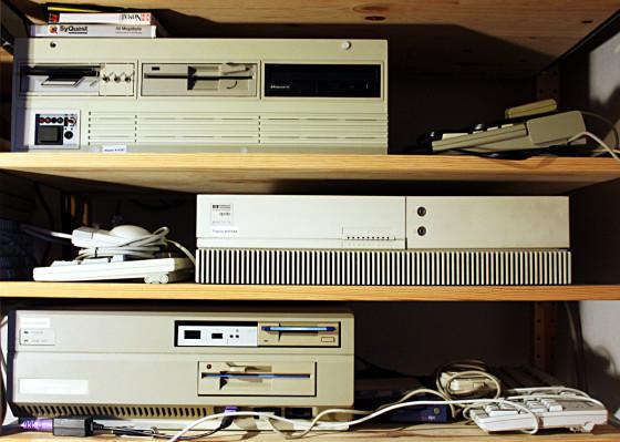 Atari MegaST in Lighthouse Gehäuse, HP Apollo 715/33, Commodore Amiga A2000